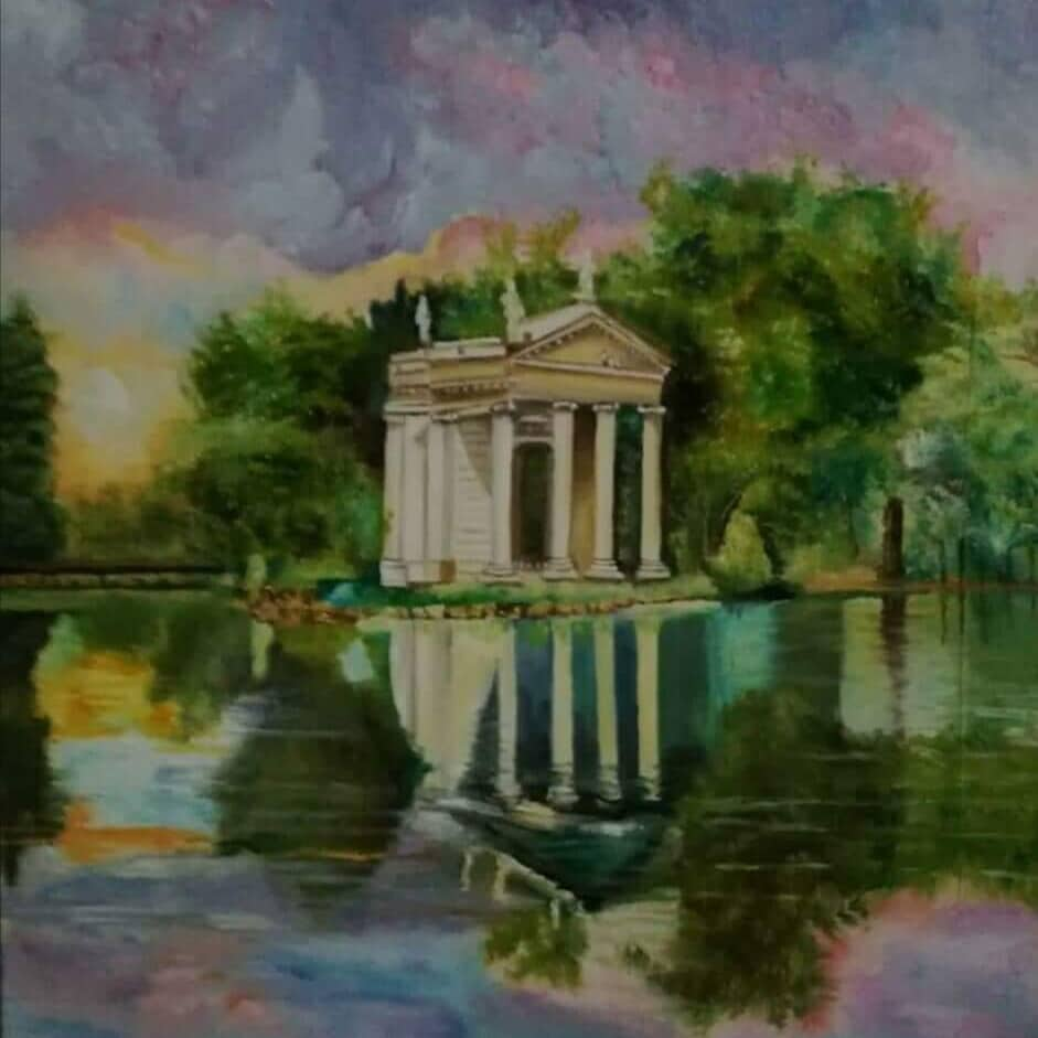 ROMANTIC VISION OF THE TEMPIETTO OF VILLA BORGHESE .. (ROME - ITALY)