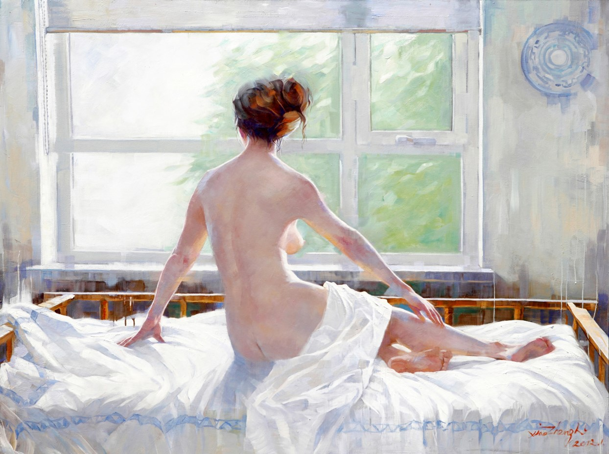 oil painting Window Woman 150×200cm