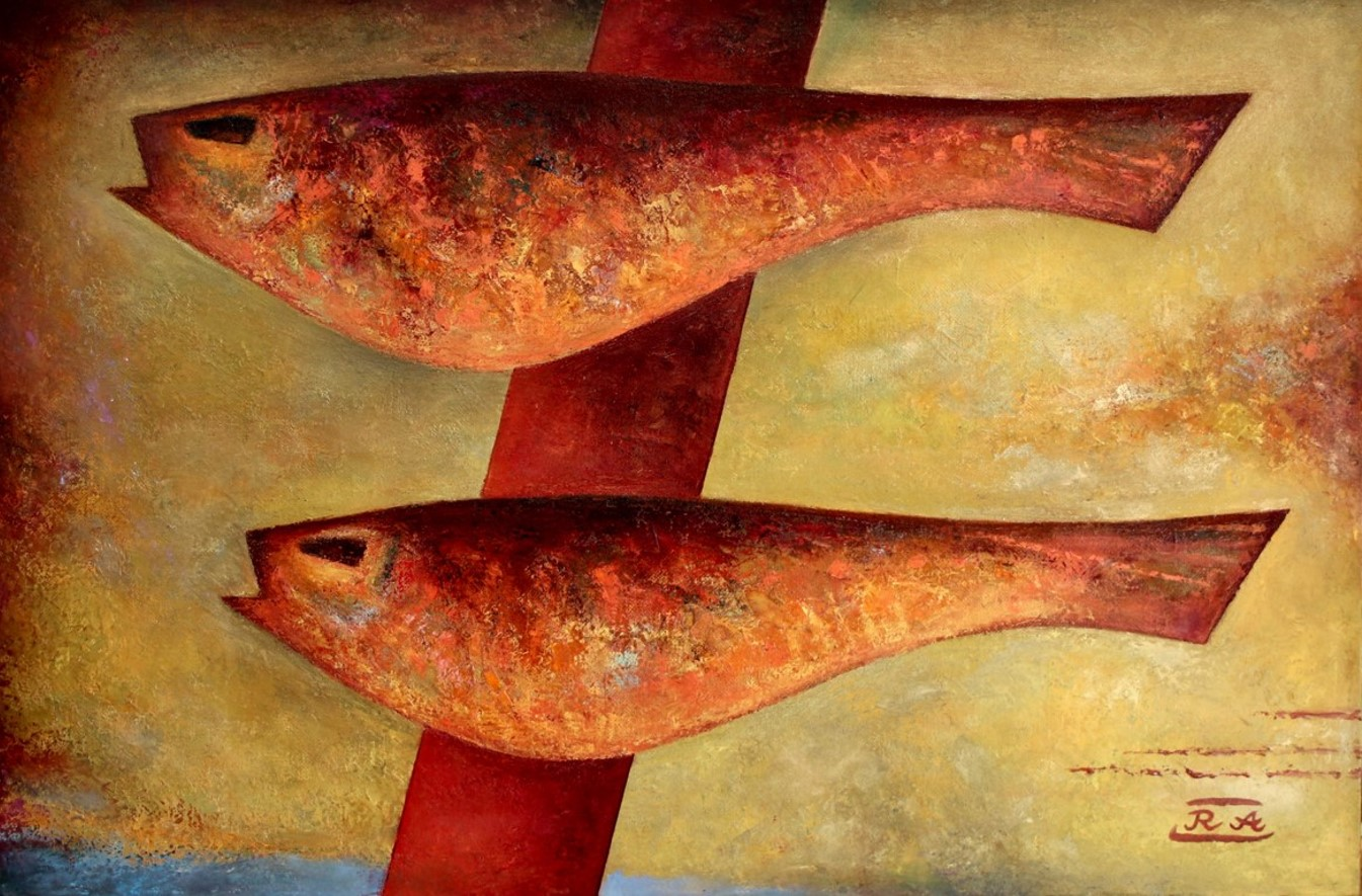 Two fishes 60x90