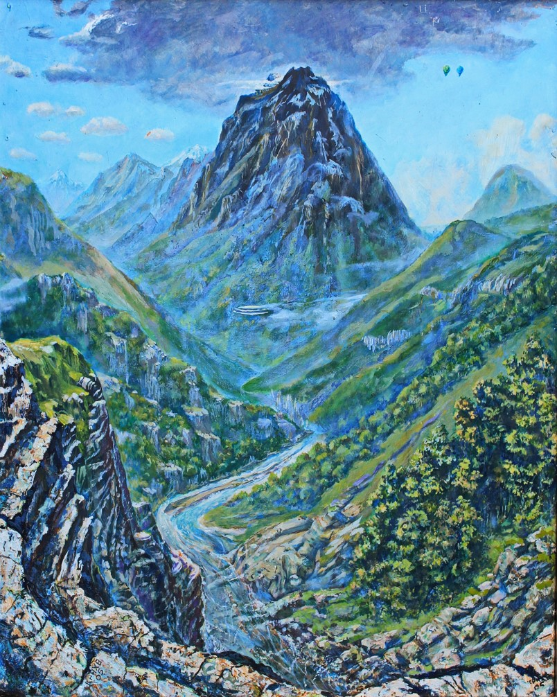 From there. Monte Noire. Whatman oil 60х80 2005 for sale