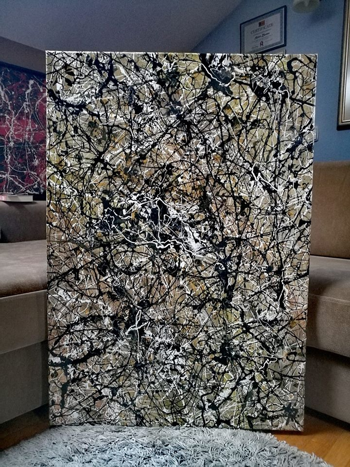 "ROBERT ZUPANEC ""A total mess"" Canvas acrylic 70 x 100 cm"